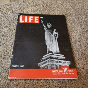Vintage Life Magazine from June 26 1944 Liberty